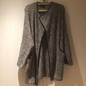 Gray Zara Wrap Coat